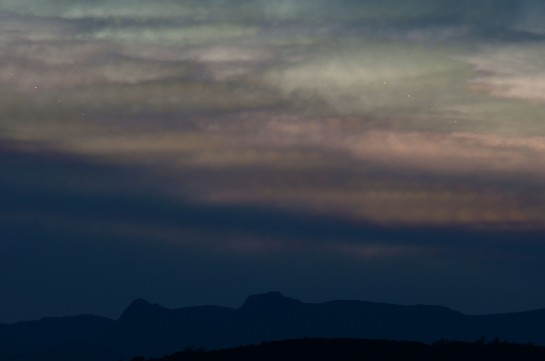 Fifteen or so layers on a cloudy evening, catching planets through the moving gaps in the clouds.