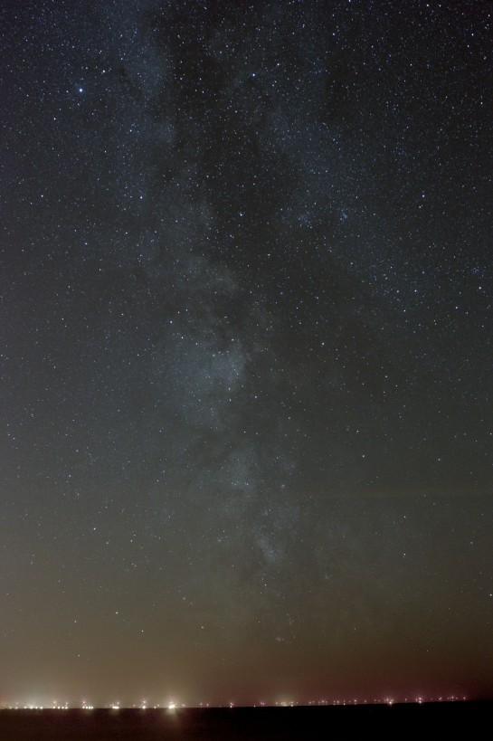 26 April 2014: The Milky Way from Silecroft. 24mm f/4 ISO 800, 7min.  7 frames of 60 sec.