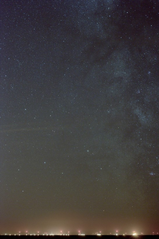 26 April 2014: The Milky Way from Silecroft. 50mm f/4 ISO 800, 100 sec. 10 frames of 10 sec.