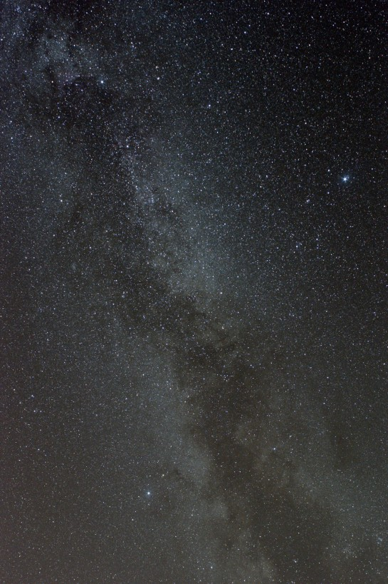 26 April 2014: The Summer Triangle from Silecroft. 24mm f/4 ISO 800, 6 min. 3 frames of 120 sec.