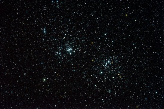 Double Cluster in Perseus Nikon D90 on Altair Wave 115/805, 20x45sec, ISO 3200