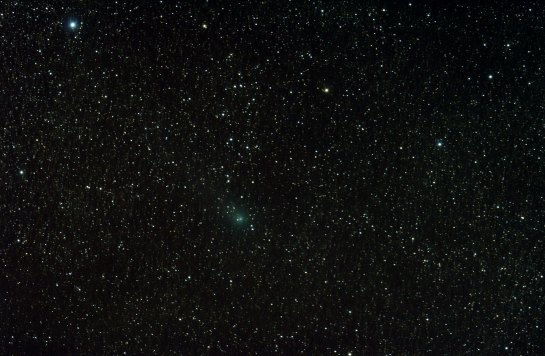 Comet C/2014 E2 (Jacques) Nikon D90 on Altair Wave 115/805, 38 x 45 sec, ISO 3200