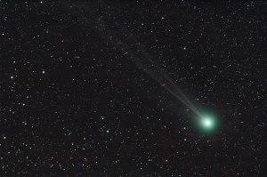 Comet C/2014 Q2 (Lovejoy) Nikon D90 and Nikkor 300mm ISO 800, 9x3min.