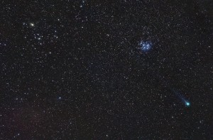 Comet C/2014 Q2 (Lovejoy) Nikon D90 and Nikkor 50mm ISO 800, 7x5min.