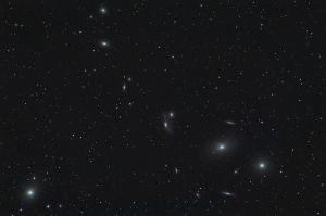 Markarian's Chain: M64, M86 and others in the Virgo Cluster. Nikon D90 on Altair Wave 115/805 (f/7), ISO 400 50 minutes: 5 frames of 10 minutes each.