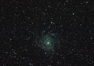 Galaxy IC342 in Camelopardalis, magnitude 9.1 7 frame sof 300sec, total 35min @ f/7, ISO3200